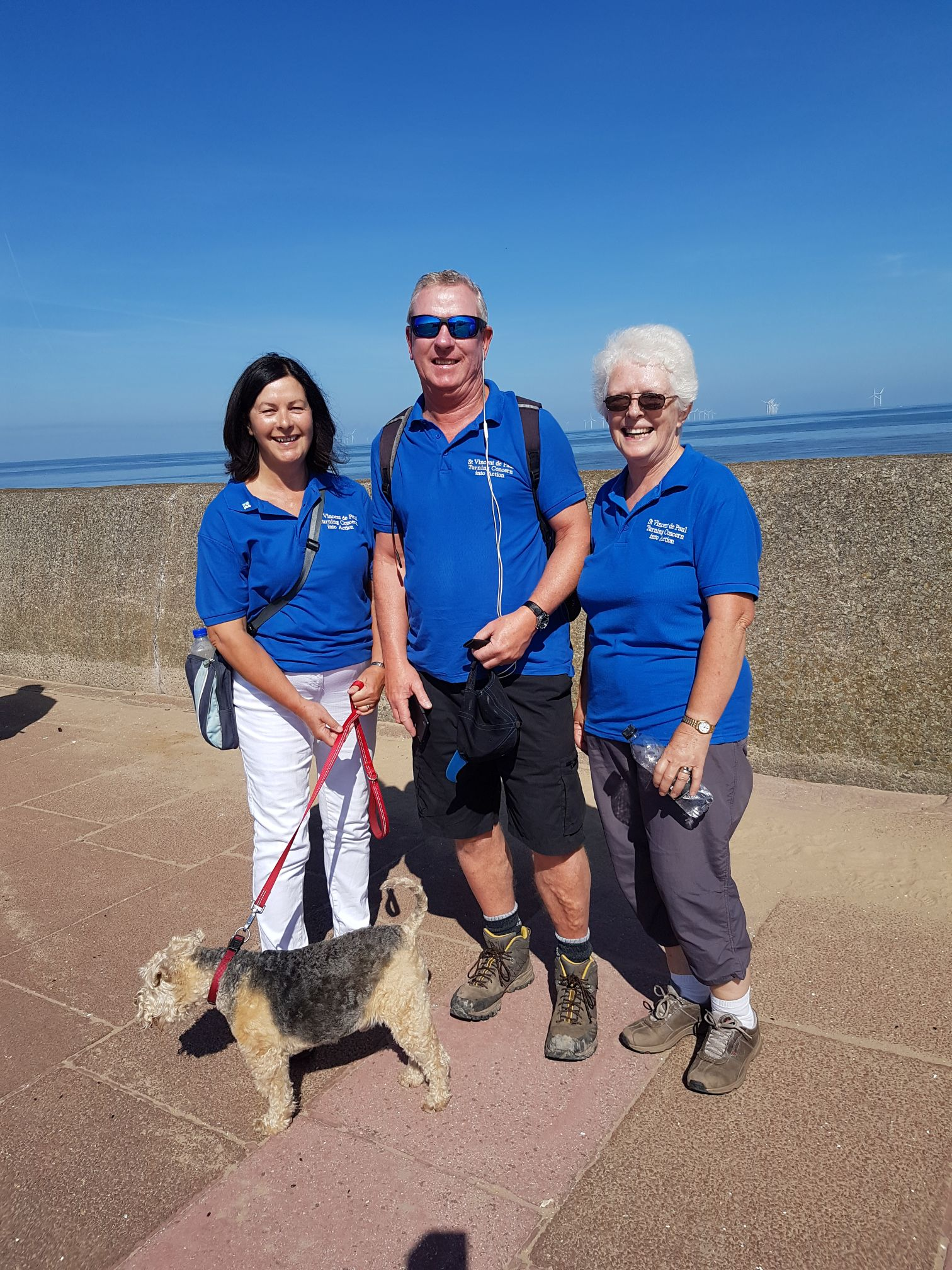 Enjoying the Wirral Coastal Walk to raise money for Summer Camps