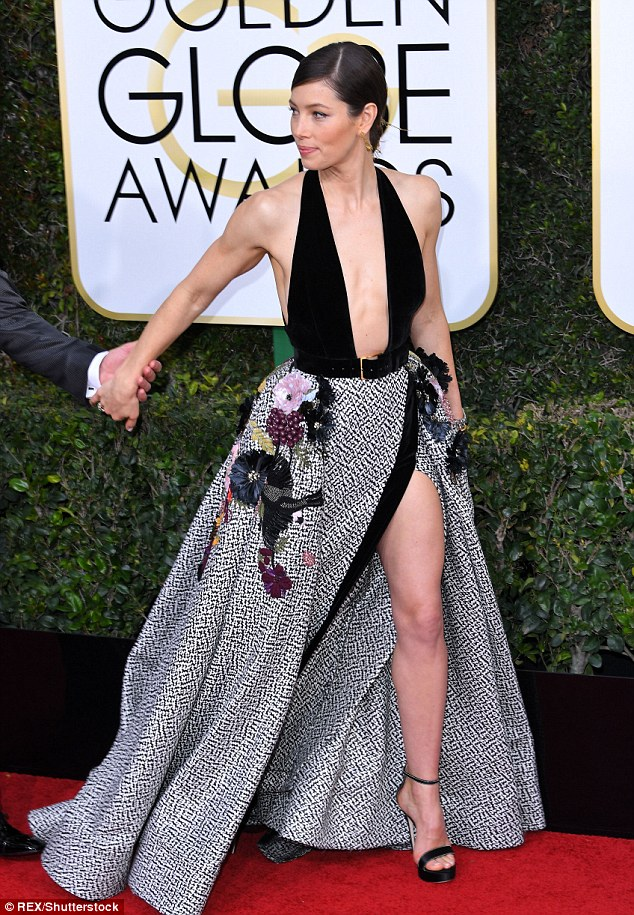 Jessica Biel Golden Globes