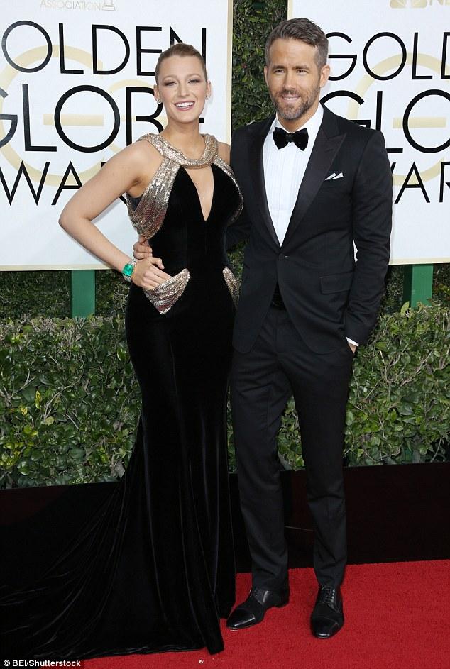 Blake Lively and Ryan Reynolds Golden Globes