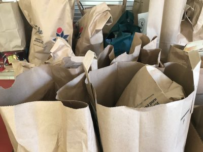 Filled grocery bags