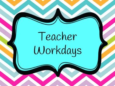 Teacher Accreditation Workday