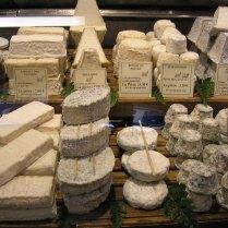 beautiful display of cheeses