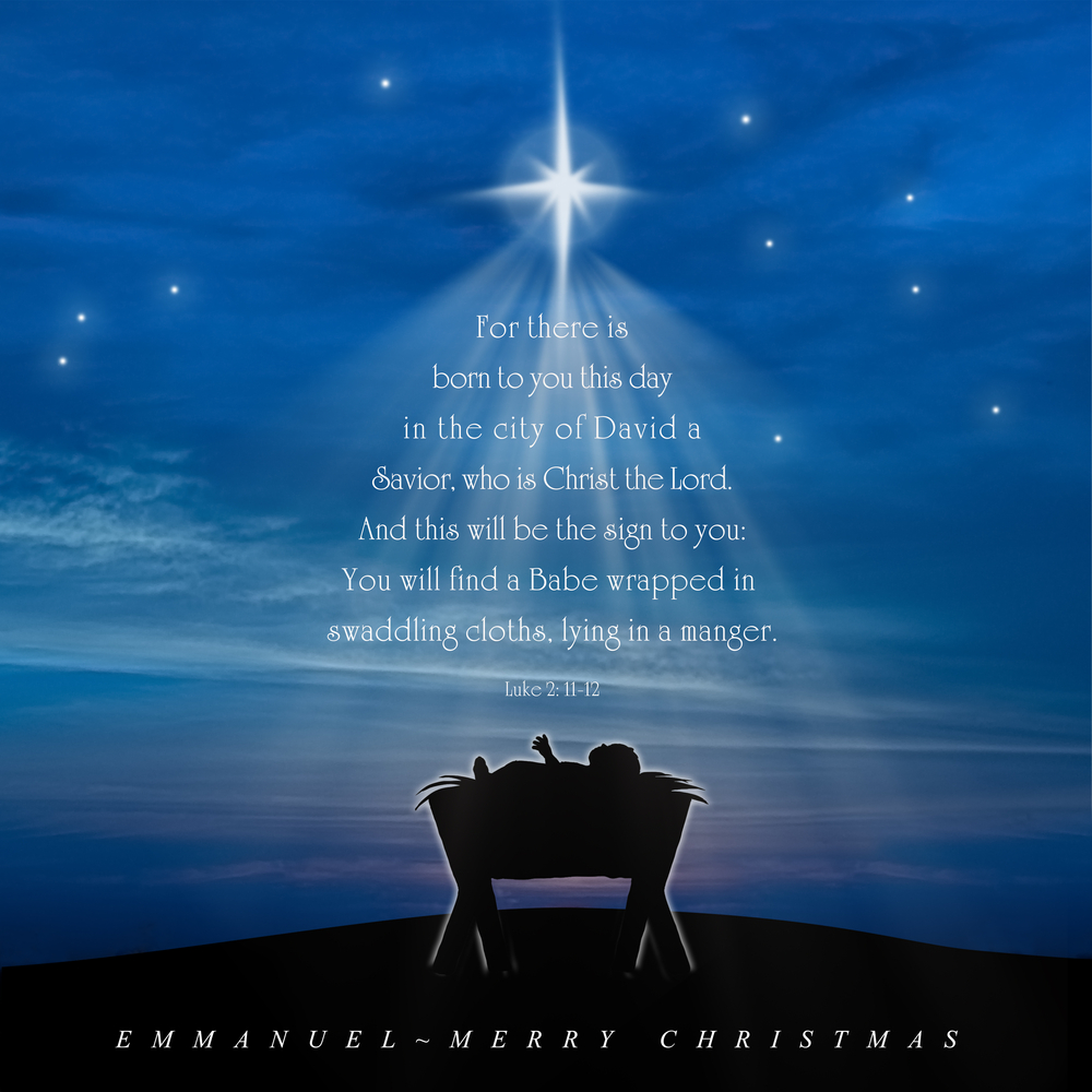 Joy to the world, our Savior,  Jesus, is born. Merry Christmas.