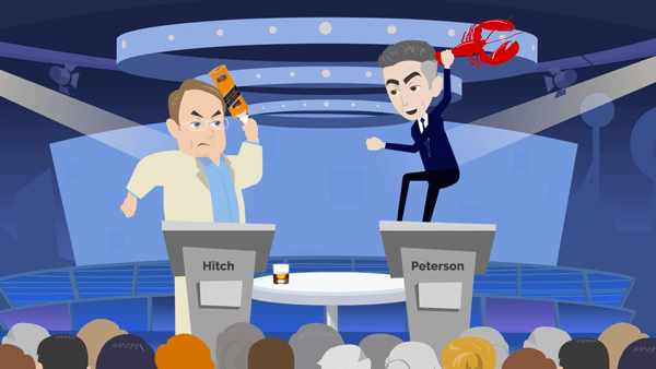 Christopher Hitchens vs Jordan Peterson