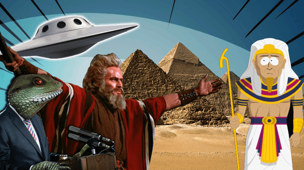 Who built the pyramids and how