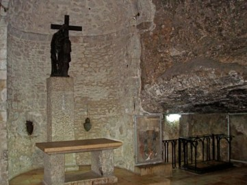 When visiting the Holy Sepulcher, pilgrims can descend the 29 steep steps to the underground Armenian Chapel of St Helena. This was the crypt of the emperor Constantine's 4th-century basilica and is therefore the oldest complete part of the entire building.