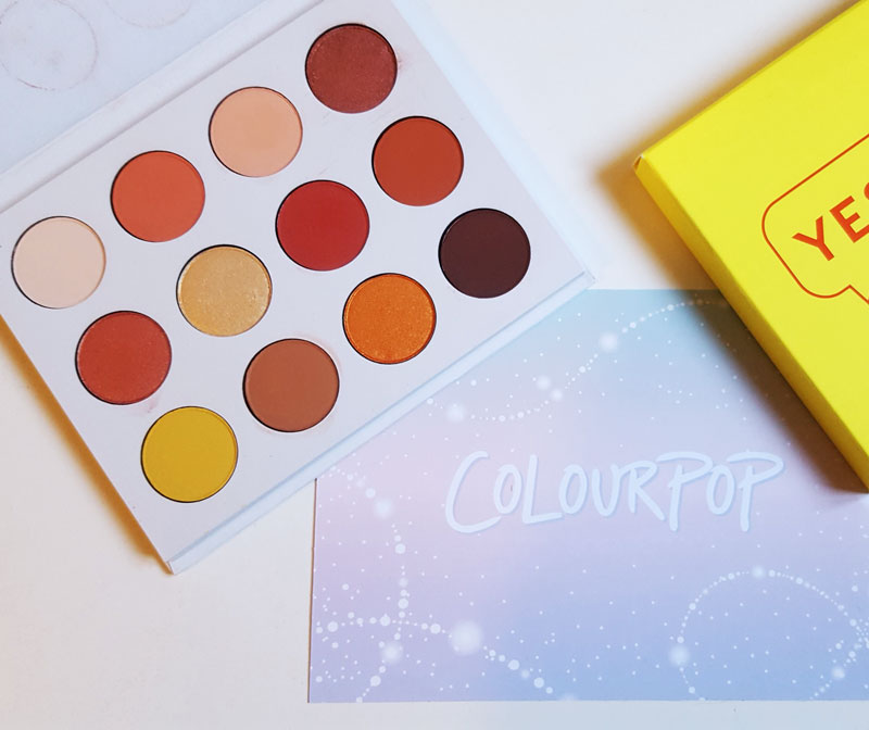 Palette Yes please de Colourpop et son packaging