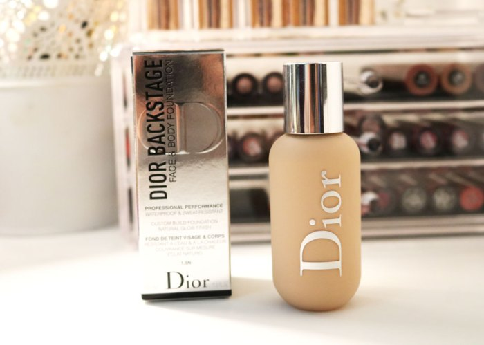Fond de teint Dior Backstage face&body couverture