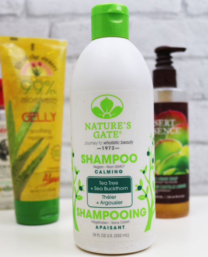 Shampoing Natures gate vegan contre cheveux gras