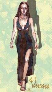 "Fashion Illustration "" Jourdan Dunn"""