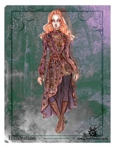 "Fashion illustration ""boho dark"""