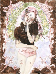"Aquarelle ""Antigeek"""