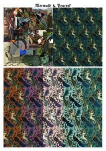 Peacock and Mermaid pattern