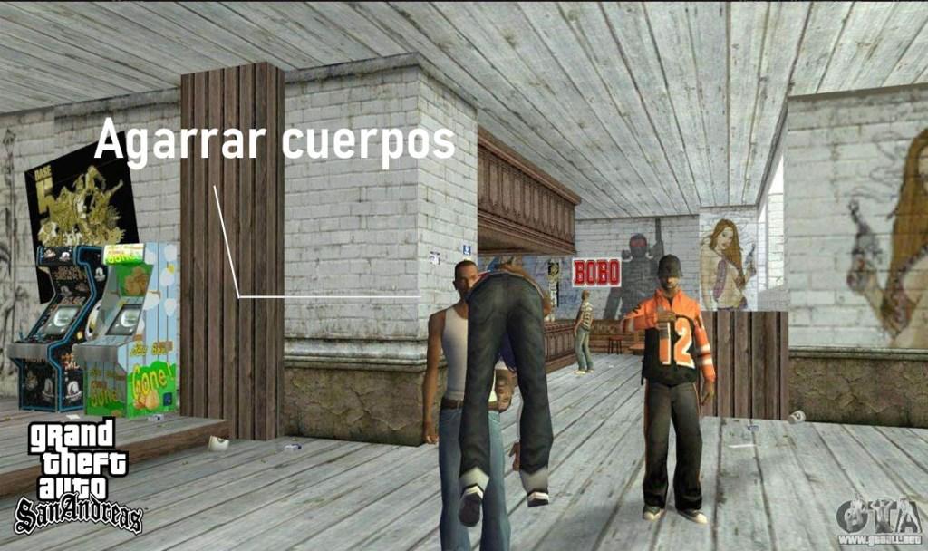 Mod Agarrar cuerpos en GTA San Andreas