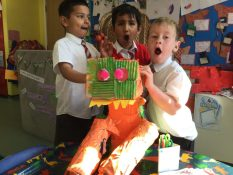 We worked in groups to design and make different dinosaurs.