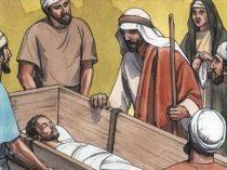 Jesus tells son to get up