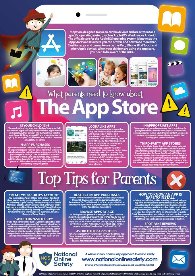Online Safety: The App Store – Holy Redeemer Catholic Primary School