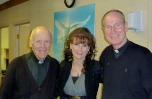 Monsignor O'Donnell, Janet Napoli and Father Gabin