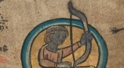 TCD MS 90 f4r November: Saggitarius © The Board of Trinity College Dublin