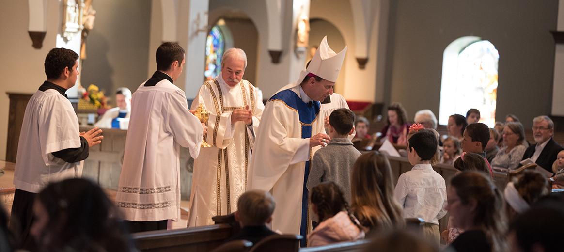 Mass for Homeschool Families celebrated by Bishop Michael Burbidge