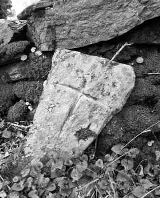 A cross inscribed stone