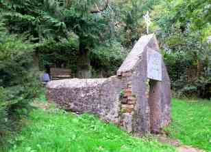 Side view of the wellhouse
