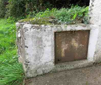 Entrance to the well is sealed off
