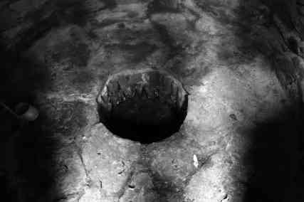 Circular well, currently dry