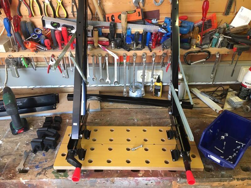 Spanntisch fast fertig - Tisch für die Oberfräse - Holz-Tiki