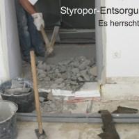 DESASTER Styropor Entsorgung