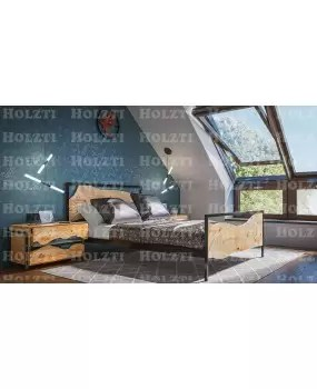 lit live edge lit double cadre de lit lit en bois massif chambre double