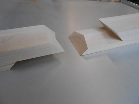 Schrägschnitte- Holzverbindung