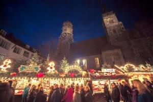 ドイツのクリスマスマーケット 店の看板