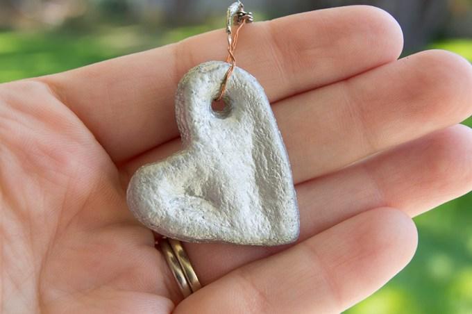 Salt Dough Thumbprint Heart   Homan at Home