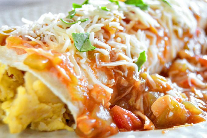 Smothered Green Chili Breakfast Burrito   Homan at Home