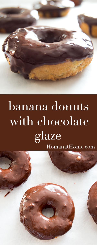 Banana Donuts with Chocolate Glaze | Homan at Home