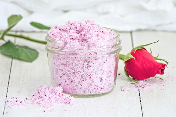 Rose Sugar Scrub | Homan at Home