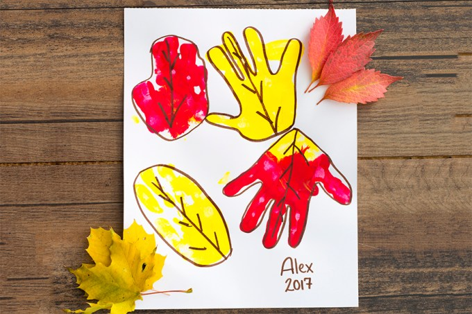 Handprint Leaves | Homan at Home
