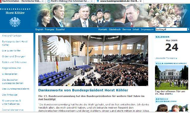 Homepage des Kapitalpräsidenten