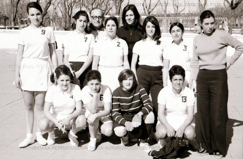 1970 Equipo del Medina S.F. de Toledo cuya actuación en la liga provincial de balonmano de Madrid se puede calificar de destacada.