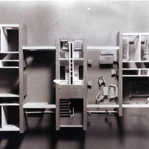 Maqueta de la vivienda experimental del barrio del Zofío de Kindel