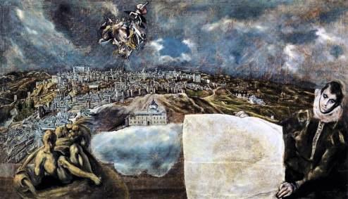 """El greco, """"Vista de Toledo"""", 1610"""