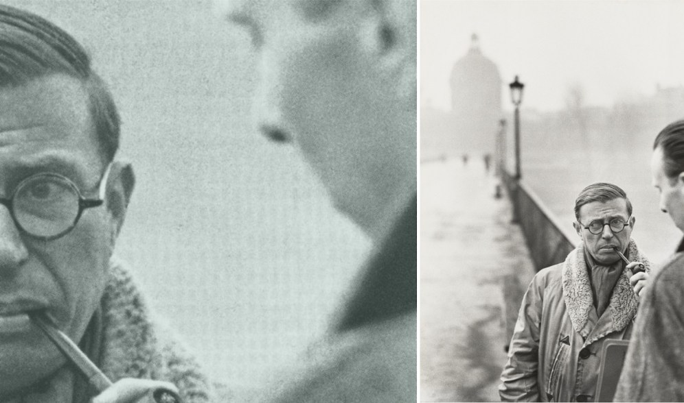 Henri Cartier-Bresson retrata a Jean-Paul Sartre y Fernand Pouillon