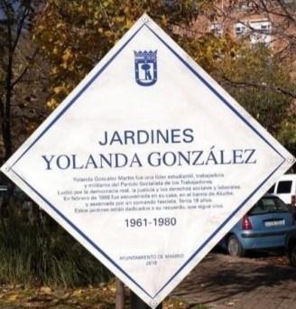 Memoria Yolanda Gonzalez en Aluche