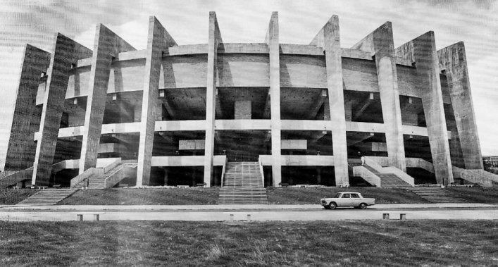 Paraninfo de la Universidad Laboral de Cheste, 1967-1968.