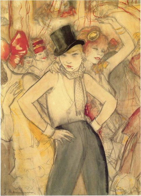 El baile de máscaras. Jeanne Mammen.