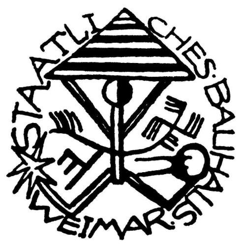 Karl Peter Röhl. Logo de la Bauhaus de Weimar, 1919.