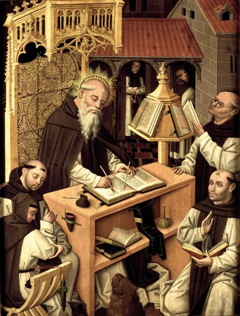 Maestro del Parral. San Jerónimo en el Scriptorium. 1480-1490
