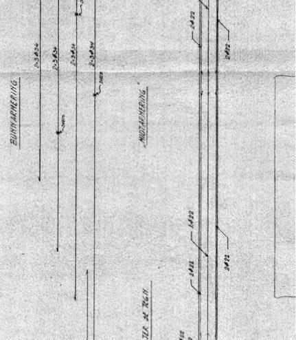 Plano del dintel. Sverre Fehn. Riksarkivet (archivo nacional de Suecia)