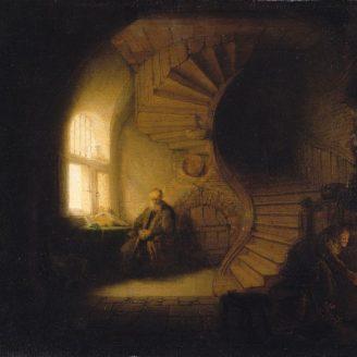 """La meditación del filósofo"" Rembrandt, 1632"""